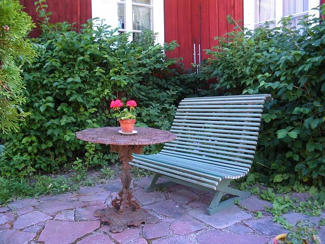 relaxační zóna u domu