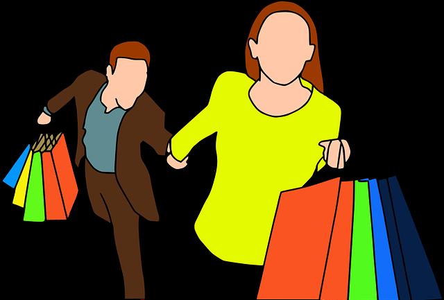 spěch z nákupů