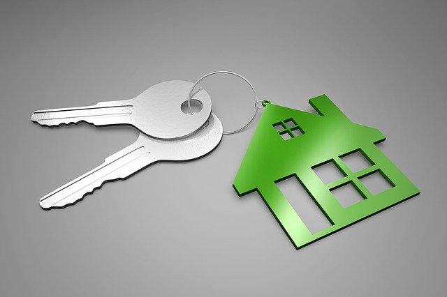 zelený domek na klíče