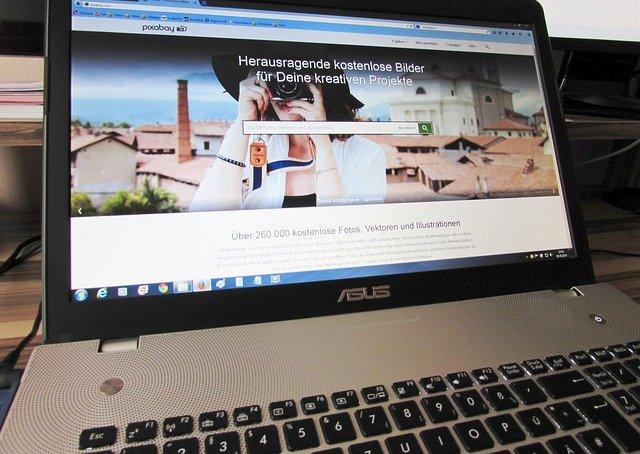 vzhled webové stránky, s vyhledávačem