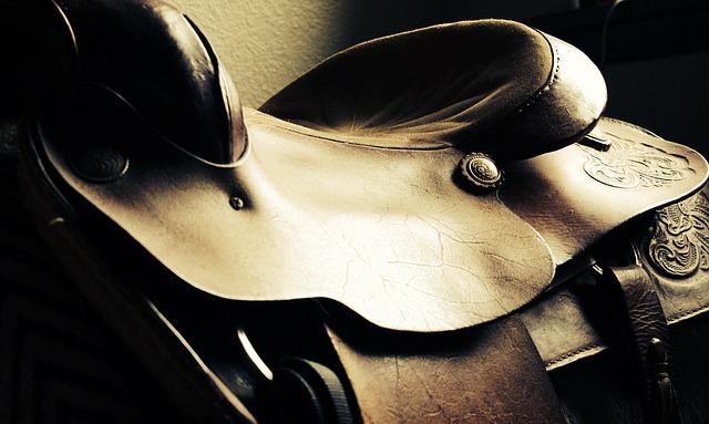 koňské sedlo detail