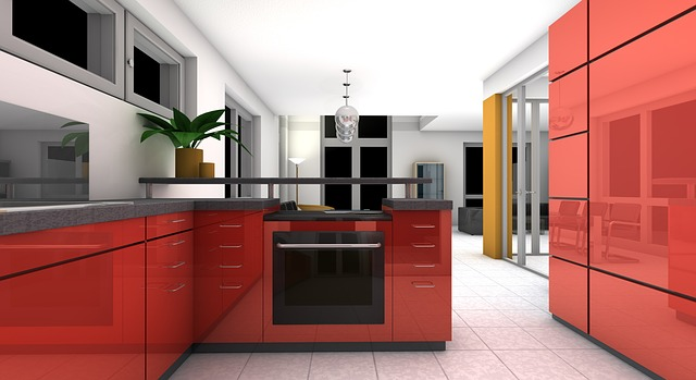Podlaha v kuchyni dekorativní kostky