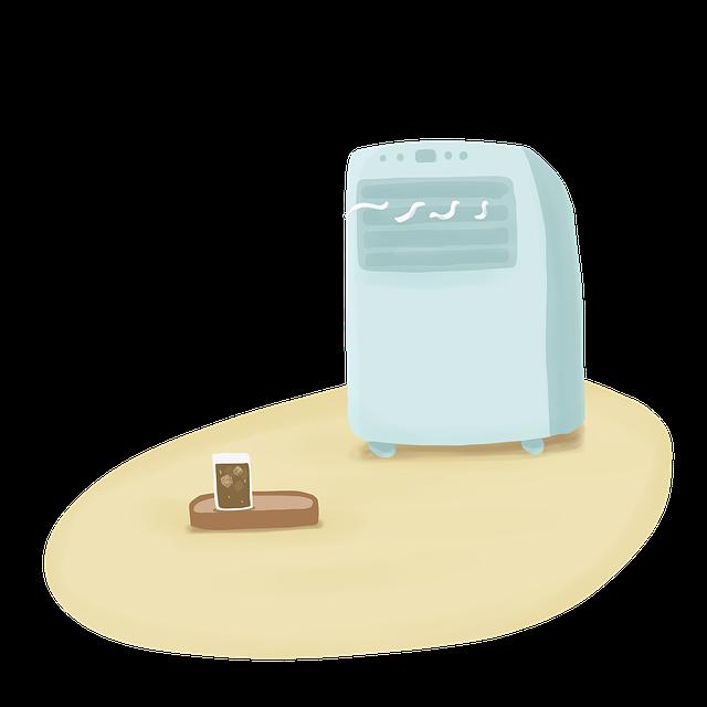 malá přenosná klimatizace
