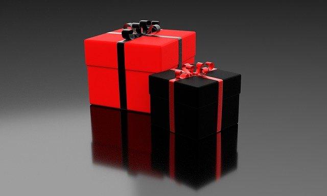 červený a černý dárek