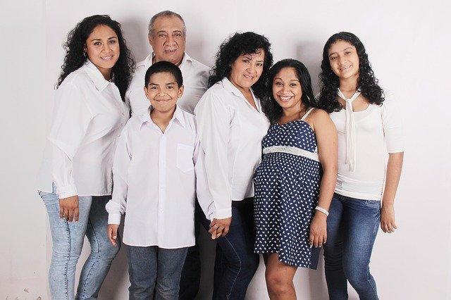 společná fotografie rodiny