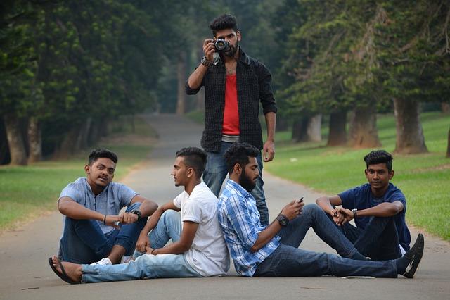 společná fotografie chlapců